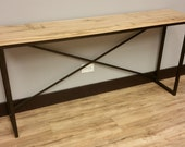 Elm + Steel Console Table