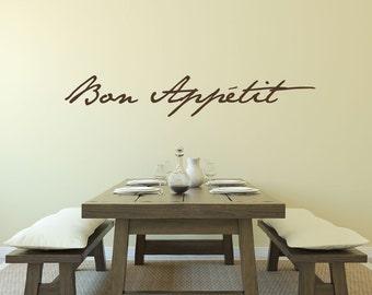 Bon Appetit Bon Appetit Sign Kitchen Decor Kitchen Wall Decor Kitchen Signs