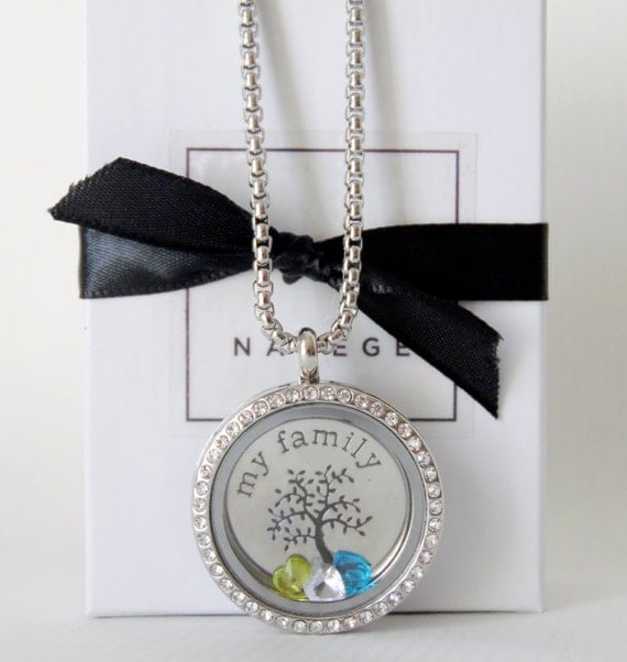 Family Tree Birthstone Necklace,Grandma Necklace,Mother Necklace,Grandma Jewelry,Mom Jewelry,Gift for Grandma,Mother Gift,Grandmother Gift