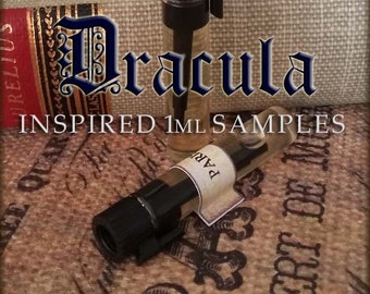 DRACULA inspired Perfume Oil Samples / 1ml perfume / Vegan perfume / Gothic Perfume