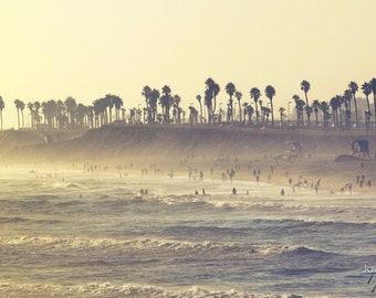 Summer Sunset - California Beach Photo from Huntington Beach, beach photography, beach decor, ocean art, beach house decor, ocean decor