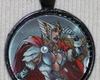 Jane Foster Goddess of Thunder Thor Marvel Avengers Comic Book Heroin Necklace