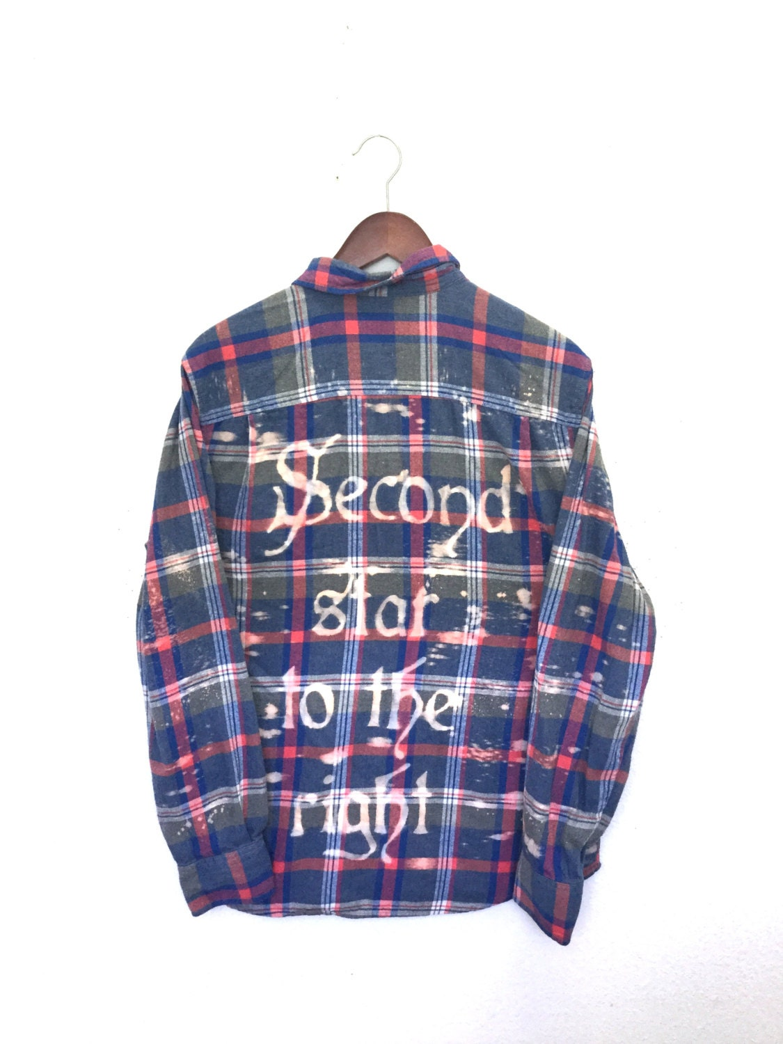 Peter Pan Shirt In Blue Pink Plaid Flannel The Second Star To
