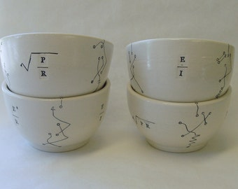Four Ohm's DC Law Porcelain Bowls