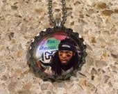 Mrs. Richard Sherman Seattle Seahawk Bottle Cap Necklace- Proceeds Benefit Cancer Research