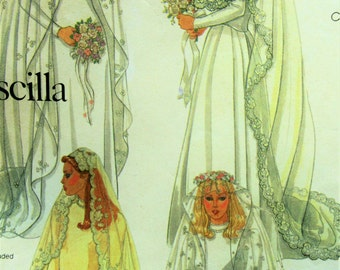 Vintage McCall's 7186 Sewing Pattern, 1980s Bridal Veils Pattern, Priscilla Pattern, Wedding Veils, Wedding Headpiece Patterns, 80s Pattern