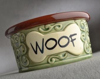 "Dog Bowl Single Ready To Ship 5"" Curls Dog Bowl by Symmetrical Pottery"