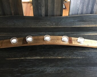 Full Stave Recycled Wine Barrel candle holder