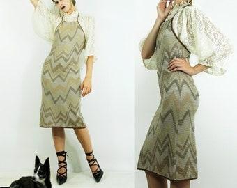 Missoni Dress Vintage CHEVRON HALTER Knit Dress // Vintage Clothing by TatiTati Style on Etsy
