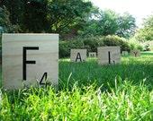 Large Scrabble Letter Tiles choose any 6 letters