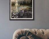 Giclée Art Print - Transcend -  Mixed Media Surrealism - Creepy Art - By Rachael Caringella Tree Talker Art