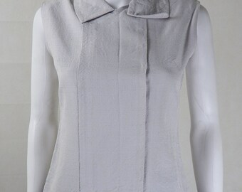 Original Designer Vintage 1960s YSL Stone Blouse UK Size 10/12