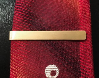 Simple bronze tie bar   hand made tie clip