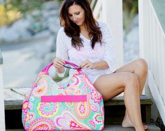 Monogram Beach Bag - Paisley - Personalized - Monogram