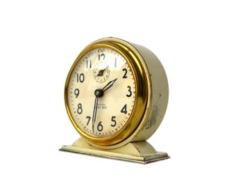 Westclox Baby Ben Clock Wind Up Alarm Clock Ivory Case Style No 4