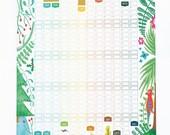 2017 Calendar Illustrated Wall Planner Seasons Nature Illustration