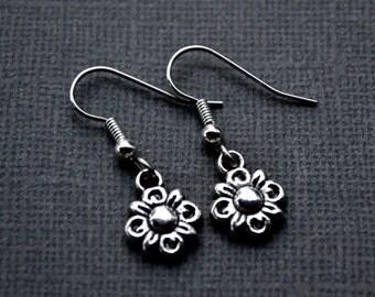 Silver Flowers . Earrings