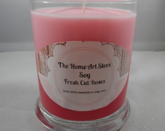 Sale 12 oz - Soy Fresh Cut Roses Container Candle