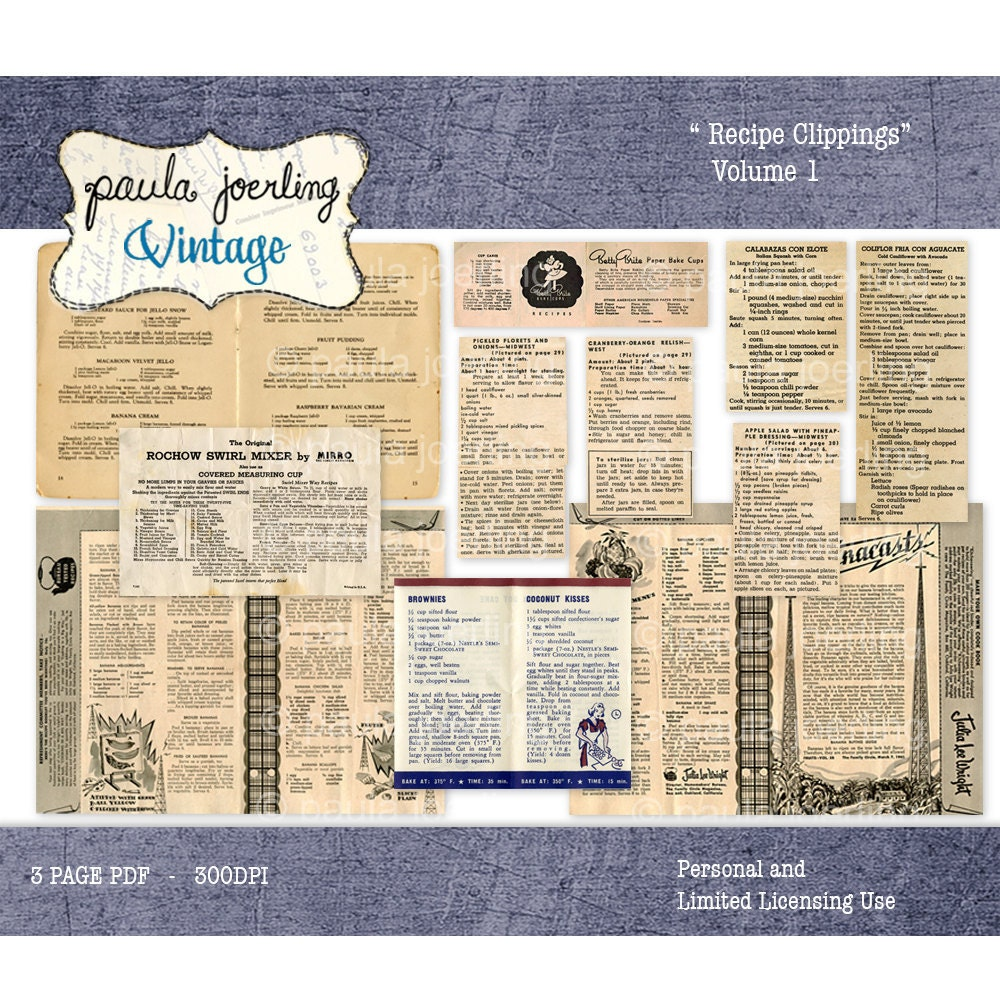 How to scrapbook newspaper clippings - This Is A Digital File
