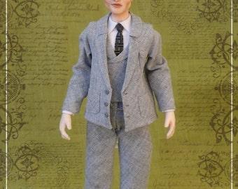 JOHNNY DEPP as J.M.BARRIE ooak 1/12 dollhouse doll by Soraya Merino