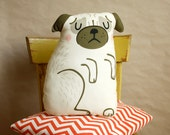 DIY Pug Cushion, sewing kit, crafting, pug pillow, home decoration, material set, sewing instruction