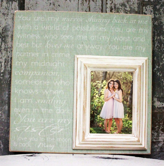 Items Similar To You Are My Mirror Shining, Sister Wedding