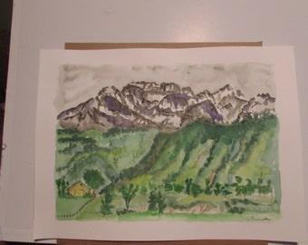 The San Juan Mtns Original watercolor 11 x 15
