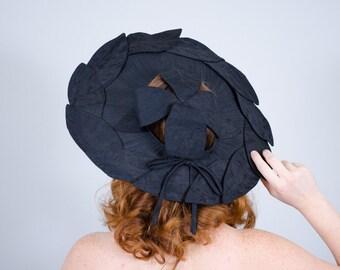 1950s vintage hat / wide brim hat / Eve