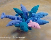 Dolphin Crochet Pattern PDF - Amigurumi Toy, Rattle or Baby Mobile  - Instant Download