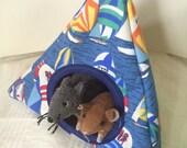 2pc Matching Small Animal Bedding Set  - 2pc Sailboat Cozy Hammock Set