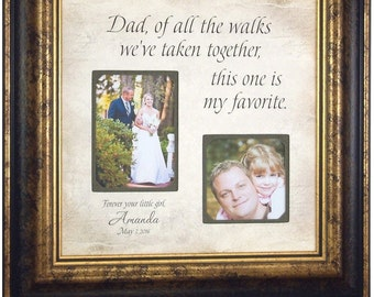 Wedding Gift For Parents, Mother of the bride, Thank you, Father of the Bride, Wedding Frame, Dad, Daddy, Of All The Walks, 16 X 16