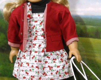 Contemporary Red Jacket Outfit fits 18 Inch Dolls