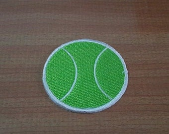 Tennis Ball Applique Embroidered Iron on Patch size 1 3/4""