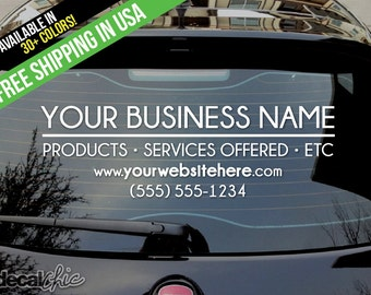 Custom Vinyl Decals Shipped Free Within The USA By DecalChic - Custom vinyl decals for business