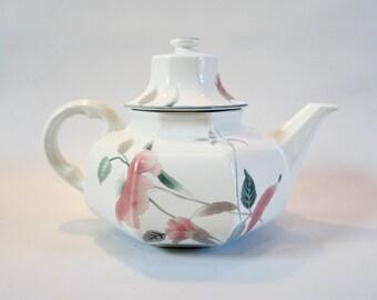 Vintage Teapot MIKASA Japan UNUSUAL Shape FLOWERS