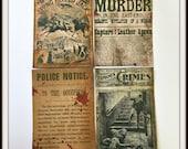 SALE - Ghastly Victorian News - Sticker Set