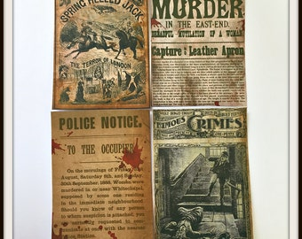 SALE - Ghastly Victorian News - Sticker Set
