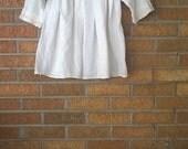 Vintage Boho Ivory White Peasant Blouse Top