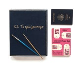 Custom Traveling Sketchbook with Cover Embroidery | One-of-a-kind, Handbound, Mixed Paper Traveling Sketchbook