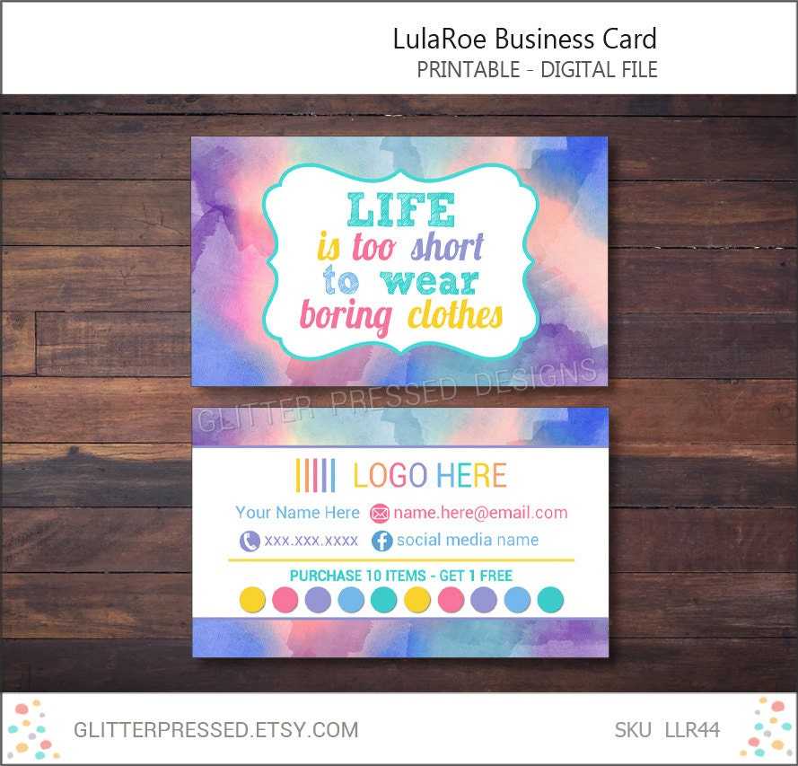 Lularoe business card personalized printable by glitterpressed for Lularoe buisness cards