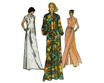 Very Easy Vogue 7036 Size 16 Bust 38 Misses Caftan Dress Tunic and Pants 70s sewing pattern 1970s