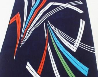 Japanese Vintage Indigo Yukata Cotton. Full Fabric Bolt for Traditional Clothing. Hand Dyed Bright Modern (Ref: 1583)