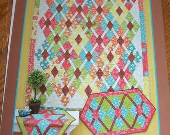 Quilt Pattern, Diamond Diva, Fat Quarter, FQs, Anka's Treasures, Busy Hands Quilts