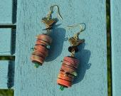 BOHO FESTIVAL EARRINGS, hippie jewellery, tribal earrings, handmade beads, festival jewellery, ethnic style, beaded, upcycled earrings
