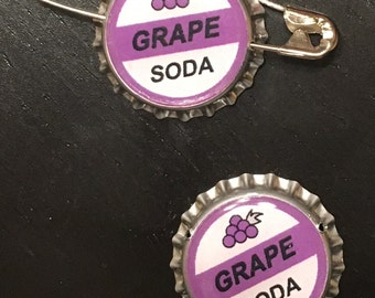 Grape Soda pin (inspired by UP) or custom brewery beer cap pin - YOUR CHOICE!