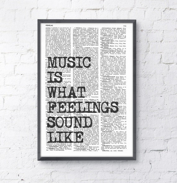 Music Wall QUOTE Wall Saying Music Wall Art, Music Art poster, Gift for Music Lover,  Room Decor Rock n Roll TYQ053b