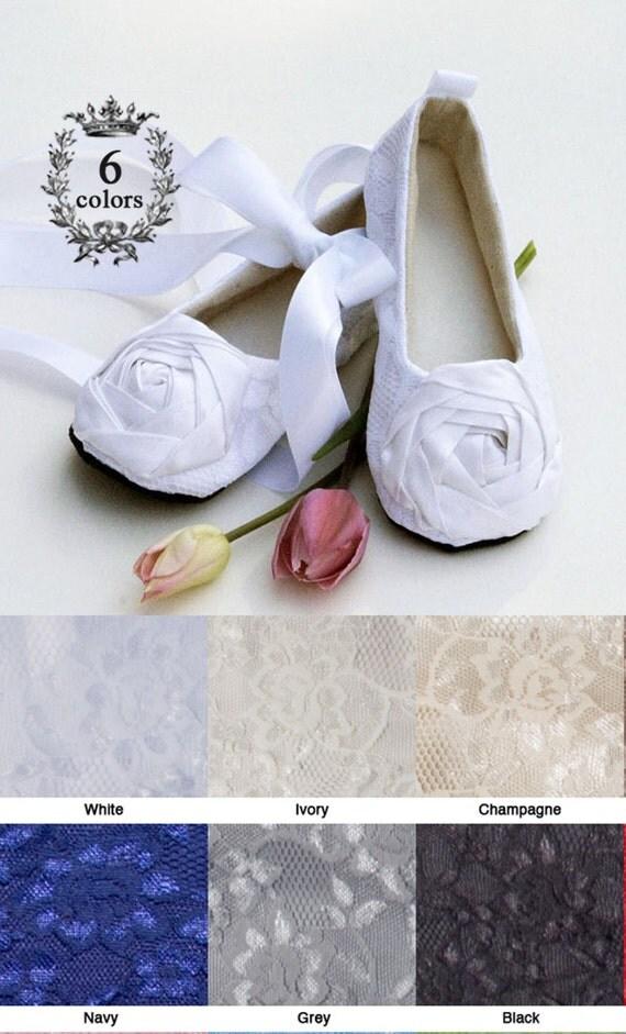 White Toddler Flower Girl Shoe, Baby Ballet Slipper, Toddler Lace Wedding Shoe, Little Girl Dress Shoe, Christening Shoe, Baby Souls Shoes