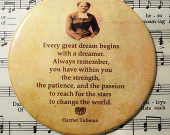 "African American - Harriet Tubman - Famous ""Conductor"" of the Underground Railroad, History Magnet Large 3.50 Inches, Party Favor Magnets"