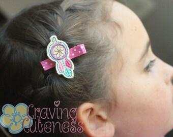 Dreamcatcher Hair Clip, Badge Reel, Planner Accessory, or Book Mark - Meet Miss Dreamie