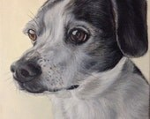 11x14 custom dog portrait on canvas from photo oil and acrylic original art valentine's day gift